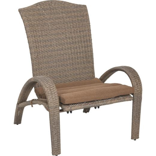 Aspen Brown Woven Wicker Chair with Cushion