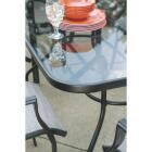 Outdoor Expressions Galveston Black Steel Rocking Chair Image 7