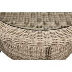 Cambria 37 In. Round Rotating Brown Wicker Table Image 3