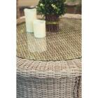 Cambria 37 In. Round Rotating Brown Wicker Table Image 7
