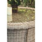 Cambria 37 In. Round Rotating Brown Wicker Table Image 9