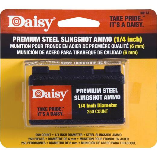 Daisy Premium Steel 1/4 in. Slingshot Ammunition (250-Count)