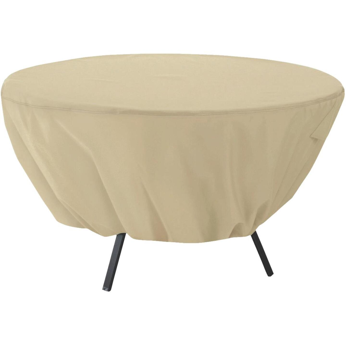 Classic Accessories 23 In. H. x 50 In. D. Tan Polyester/PVC Table Cover Image 1