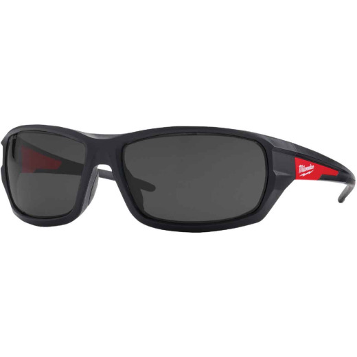 Milwaukee Red & Black Frame High Performance Safety Glasses with Tinted Lenses