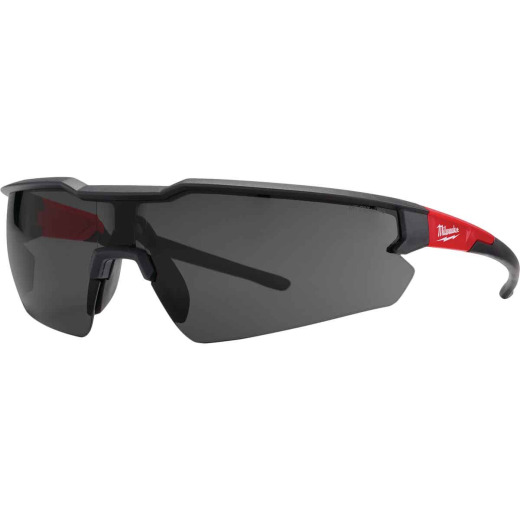 Milwaukee Red & Black Frame Safety Glasses with Tinted Lenses (3-Pack)