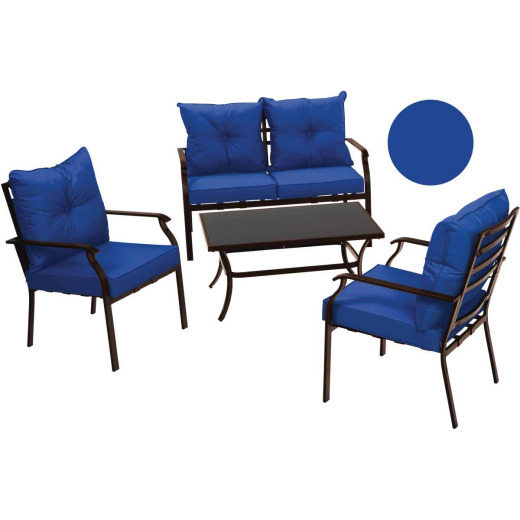 Outdoor Expressions Azure 4-Piece Chat Set