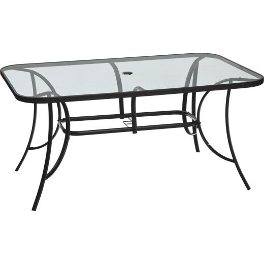 Outdoor Expressions Windsor 60 In. x 38 In. Rectangular Black & Gray Steel Table