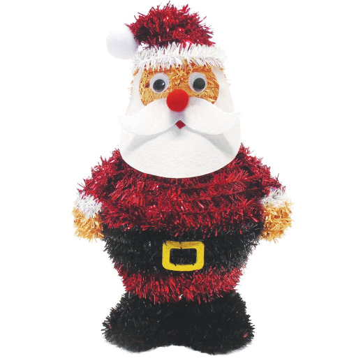 Youngcraft 11 In. Tinsel Tabletop Santa Holiday Decoration