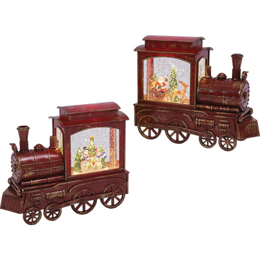 Gerson 9-1/4 In. H. Battery Operated Lighted Musical Spinning Water Train